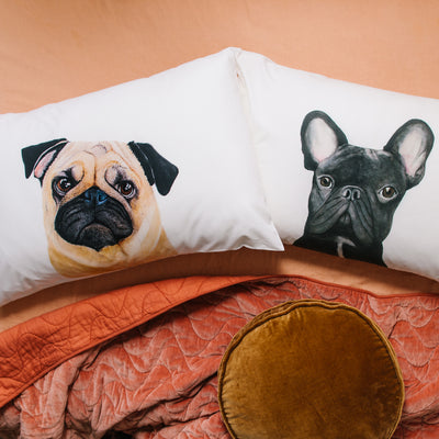 Pedro the Pug Pillowcase - For Me By Dee