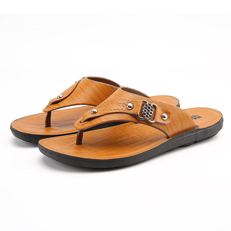 Men Stylish Clip Toe Water Beach Sandals Casual Flip Flops