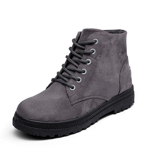 Plus Size High-top Casual Shoes Flat Boots Shoes