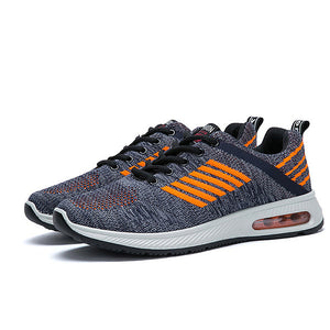 Men Breathable Knitted Fabric Air-cushion Sole Sport Running Sneakers