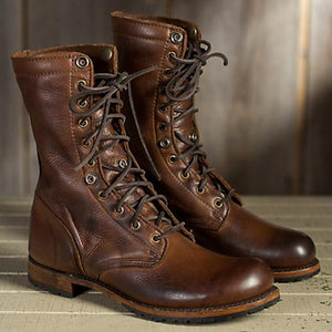Men's Fashion High Quality Martin Boots Leather Short Martin British Casual Boots