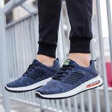 Load image into Gallery viewer, Men Breathable Knitted Fabric Air-cushion Sole Sport Running Sneakers