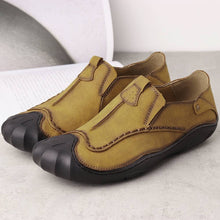 Load image into Gallery viewer, Men Leather Hand Stitching Slip On Soft Outdoor Casual Shoes