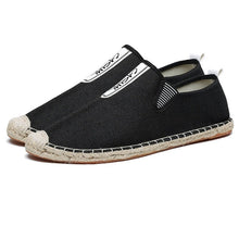 Load image into Gallery viewer, Men Linen Brethable Comfortable Flat Slip On Espadrilles