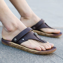 Load image into Gallery viewer, Mens Beach Flat Heel PVC Casual Sandals