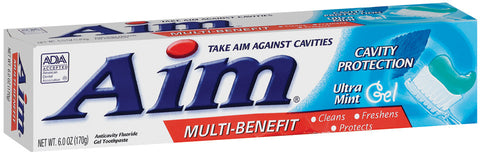 AIM - CAVITY PROTECTION - MINT GEL TOOTHPASTE 6OZ - 12CT/UNIT