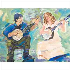 Bela Fleck and Abigail Washburn - Original by John Bukaty.