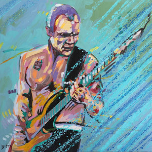 Flea - Original Painting of Flea from Red Hot Chili Peppers by Artist John Bukaty