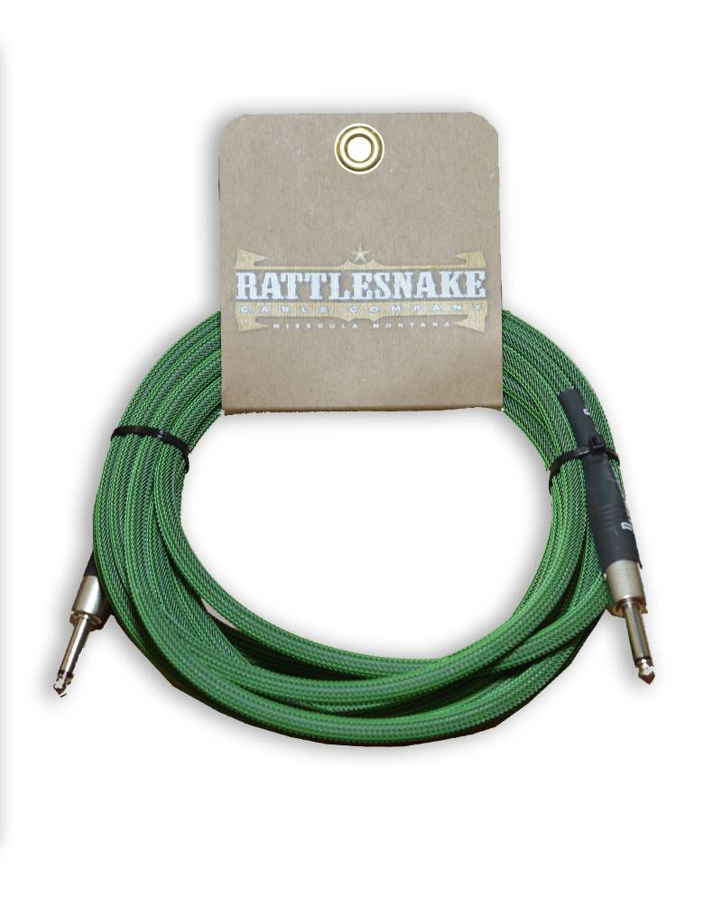 Rattlesnake Cable Co. 20 feet standard cable green weave