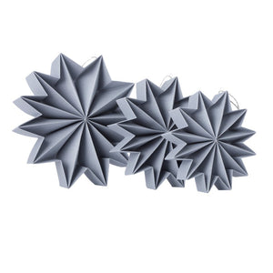 Pleat stars - Gray