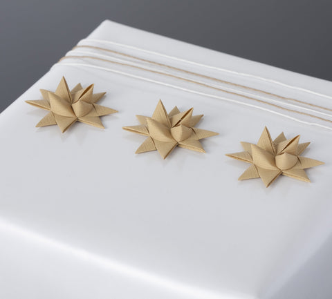 Sand half star with tape S - 12 pcs