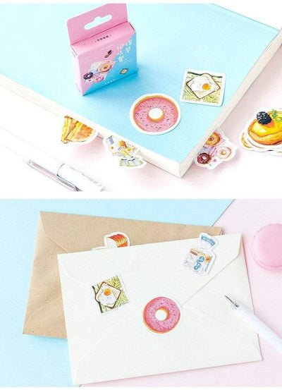 Kawaii meow Breakfast Stickers