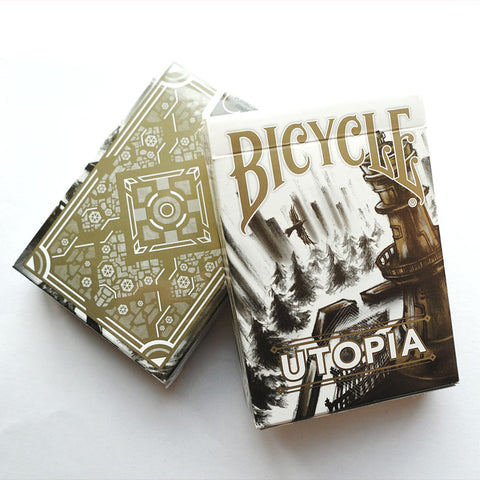 Bicycle Utopia Playing Cards (Gold)