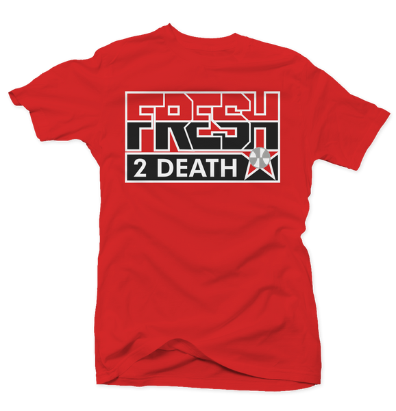 Fresh 2 Death Red (Black Cement) Tee
