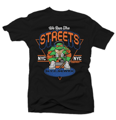 We Run the Streets Black Tee