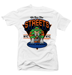 We Run the Streets White Tee