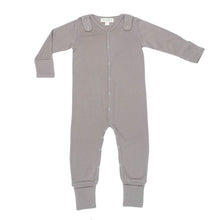 Load image into Gallery viewer, Smart Footed One-Piece + Bib - Gray - Scarlett + Michel