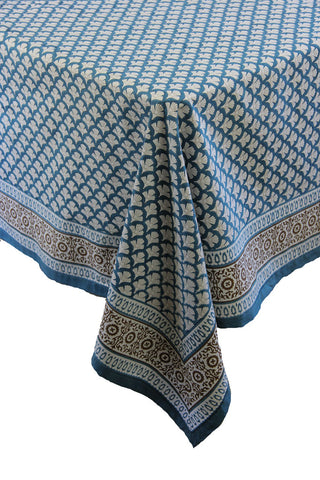 Blue Shell Table cloth
