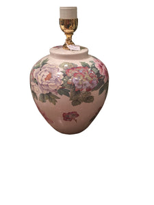 Italian Lamp Base - Blue and Pink Flower