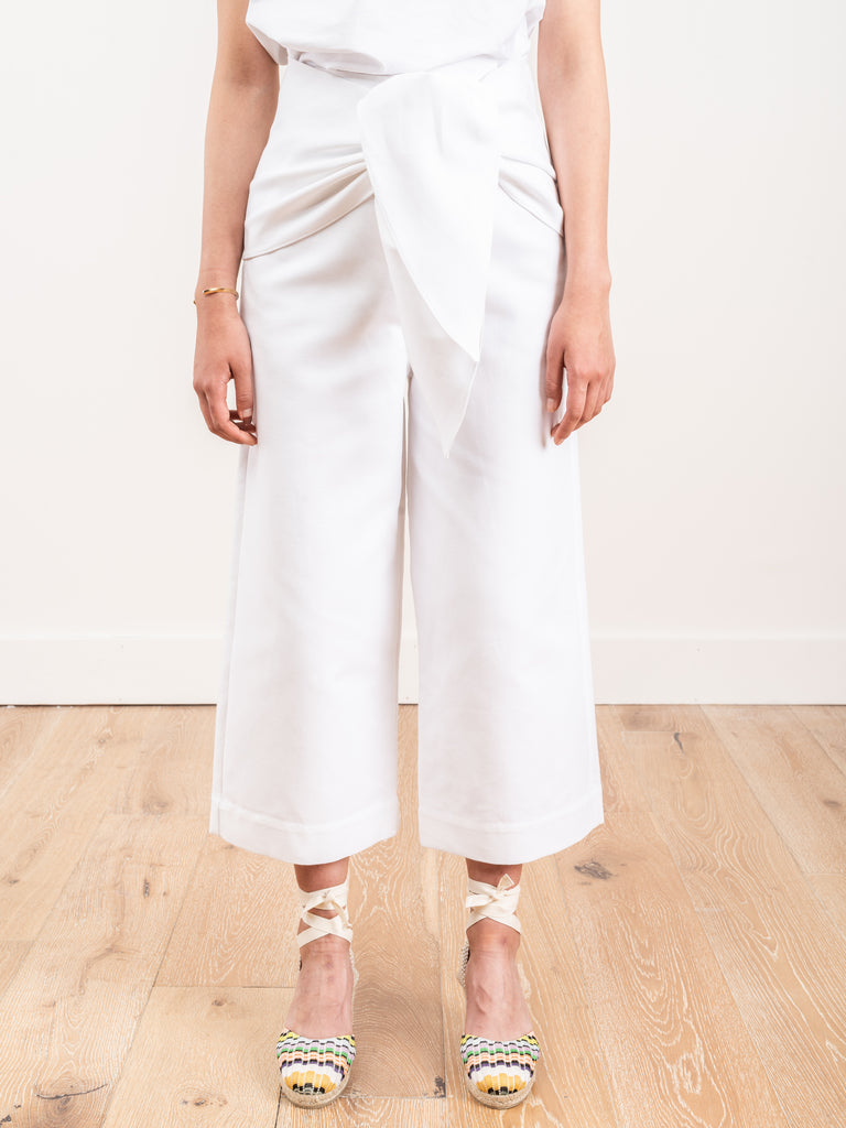 demi crop pant with tie