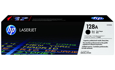 HP 128A Black Original Toner Cartridge | CE320A