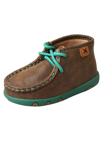 Twisted X Infant/Toddler Driving Moccasins – Bomber/Turquoise