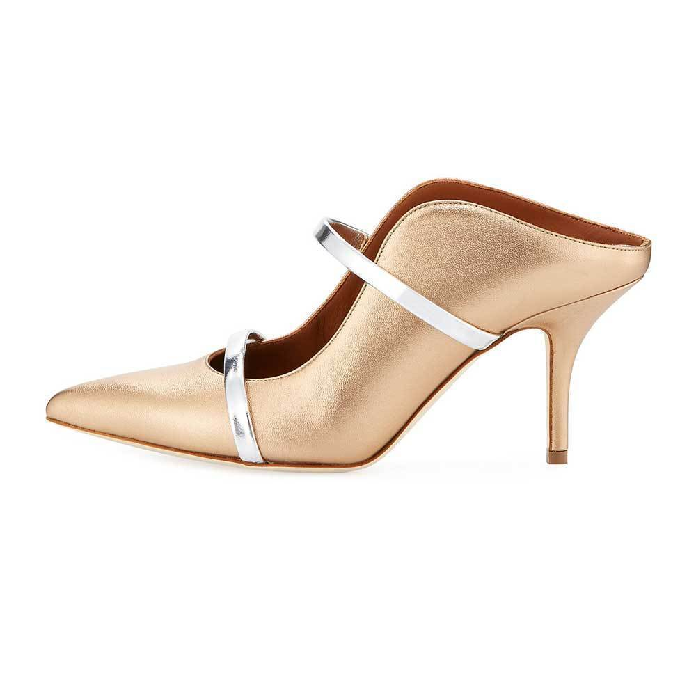 Malone Souliers Metallic Gold Maureen Pump Shoes Malone Souliers