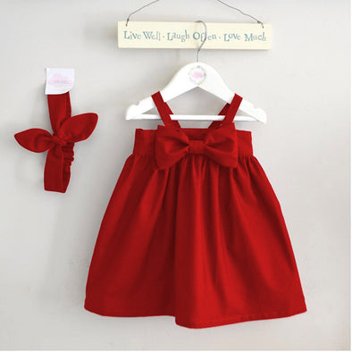 Cute Baby Cotton Bowknot Sundress