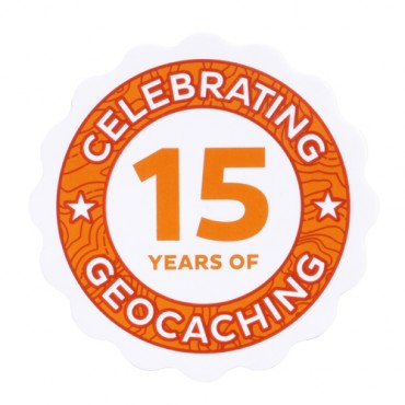 15 Years of Geocaching Sticker