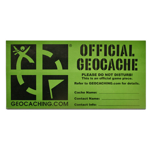 GEOCACHING.COM Cache Label - Large - English