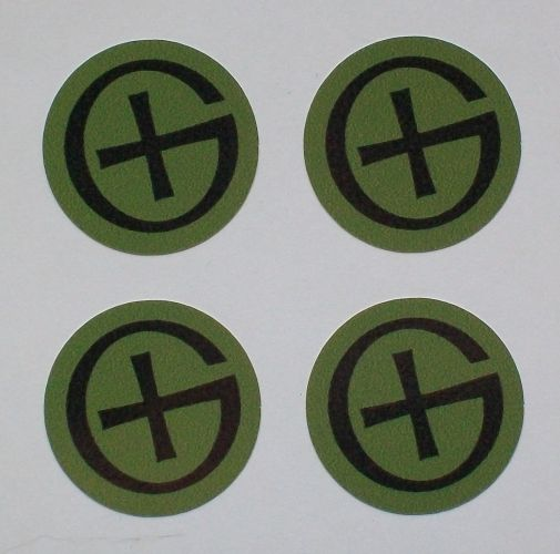 1-inch Logo Stickers x4