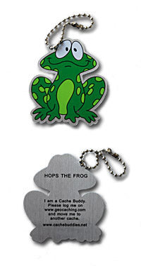 Trackable - Hops the Frog