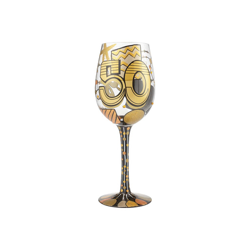 50th Birthday Lolita Wine Glass