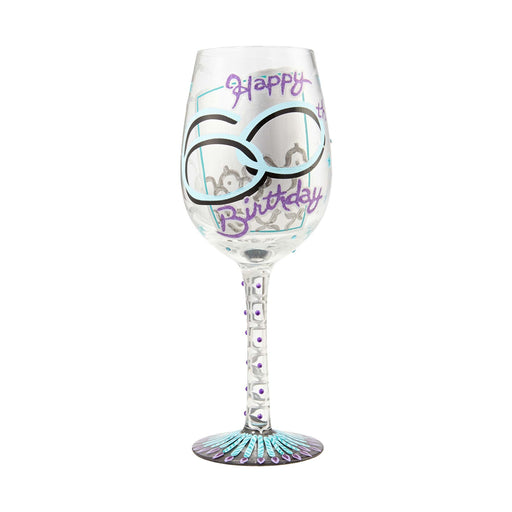 60th Birthday Lolita Wine Glass