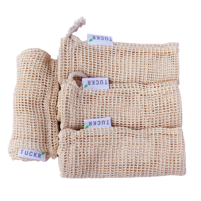 Cotton Mesh Produce Bags - 4 Pack Mix