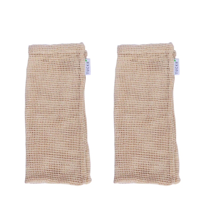 Cotton Mesh Produce Bags - Large 2 Pack
