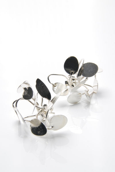 Silver Petals Earrings