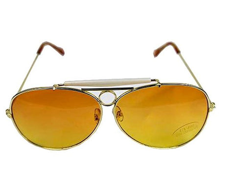 Fear and Loathing Sunglasses with orange lenses and silver frame