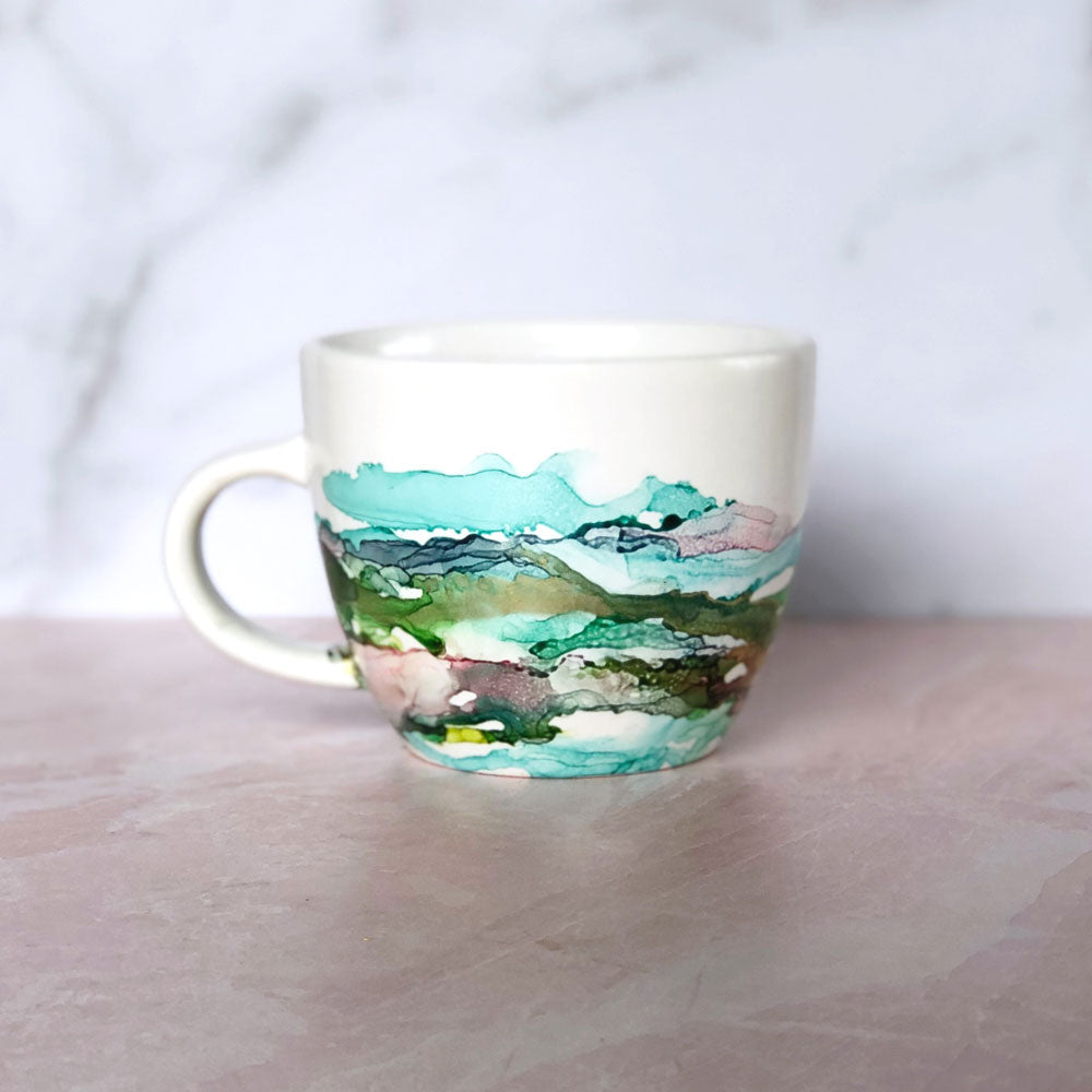 Multi-colored Hand-Painted Mug