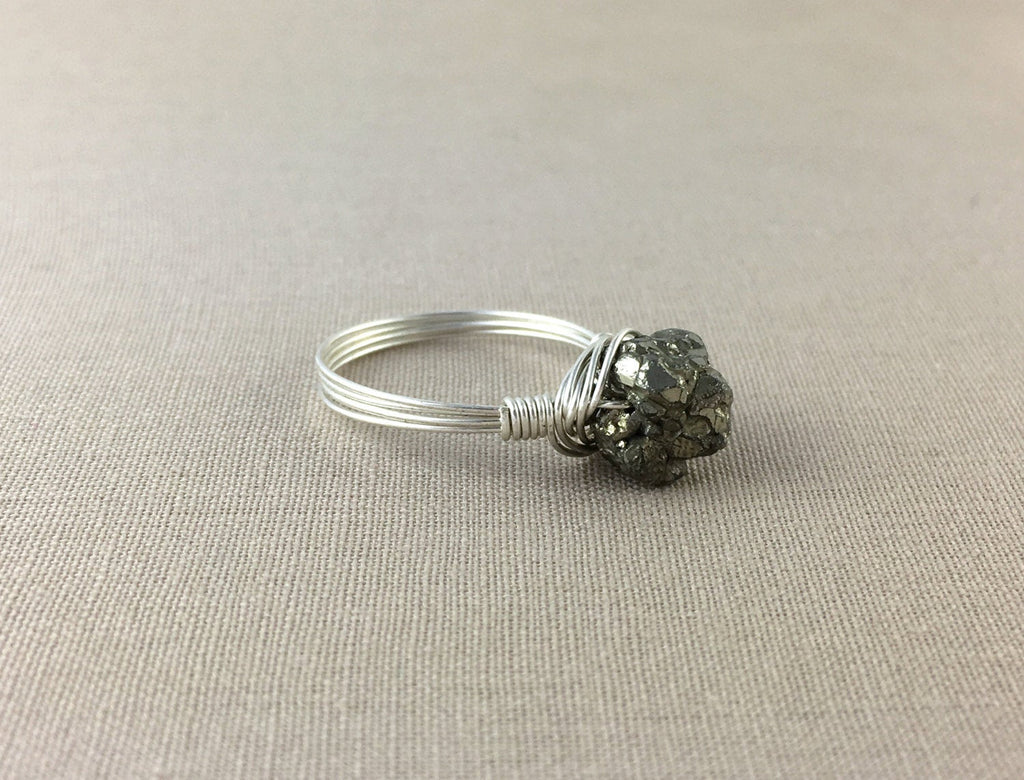 Raw Pyrite Ring