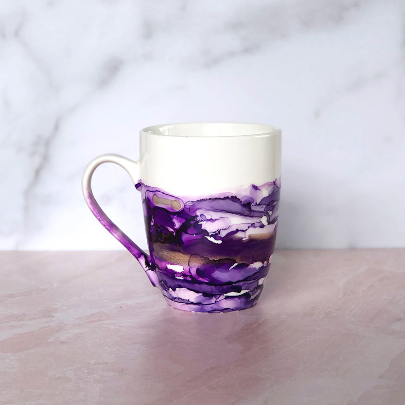 Purple Hand-Painted Mug