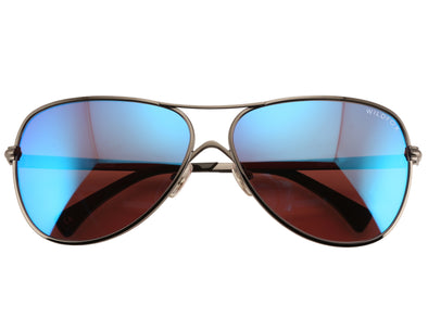 Airfox Deluxe Sunglasses | Gun Metal Blue