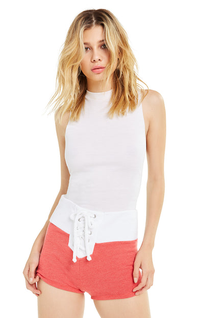 Contrast Mae Shorts | Scarlet Clean White