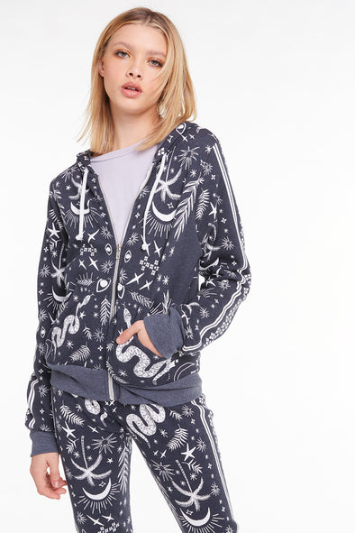 Mystic Bandana Carta Zip Hoodie, Hoodie, Sweatshirt, Sweater, Night, Wildfox