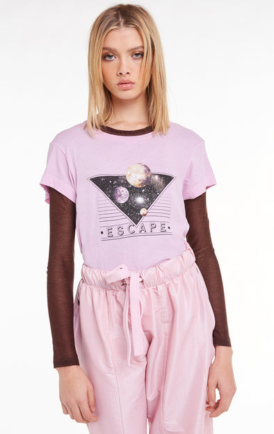 Space Escape No9 Tee, T Shirt, Crepe, Wildfox
