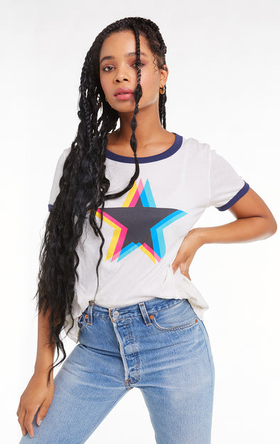 Triple Star Johnny Ringer Tee, T Shirt, Vintage Lace Oxford, Wildfox