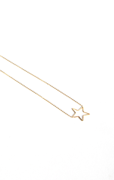 Leenabell 14K Yellow Star Necklace | Yellow Gold