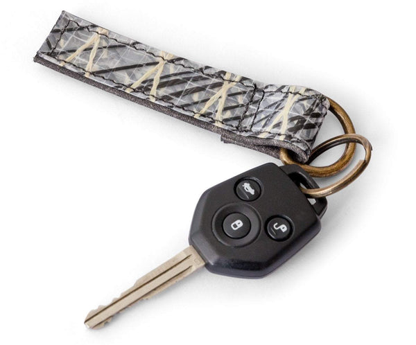 Cape Horn Apparel Leather: Black Crackle / Sail: Carbono + Kevlar Black Keychain