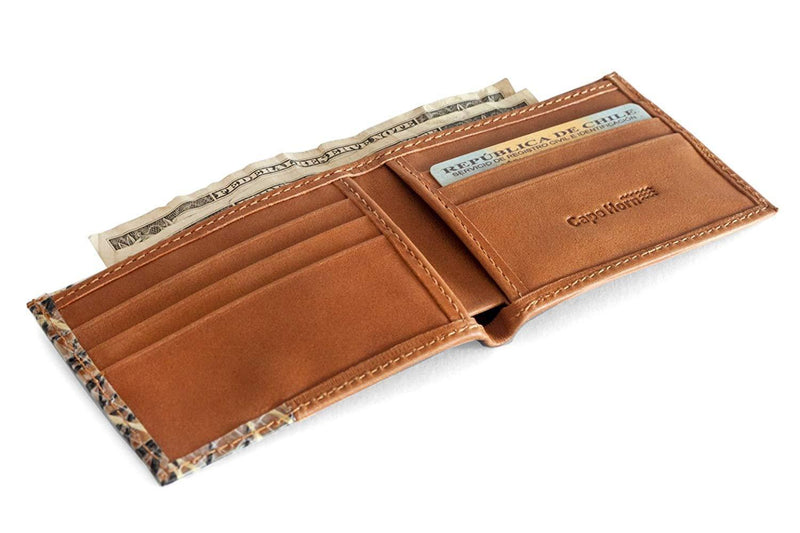 Cape Horn Apparel Brown Leather - Kevlar and Carbon Sails Brown Bifold Wallet (sail in the cover)