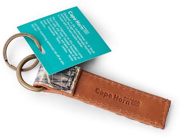 Cape Horn Apparel Leather: Brown Caramel / Sail: Carbono + Kevlar Brown Keychain